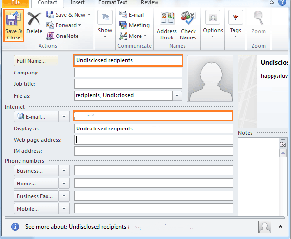 How To Send Emails To Undisclosed Recipients In Outlook